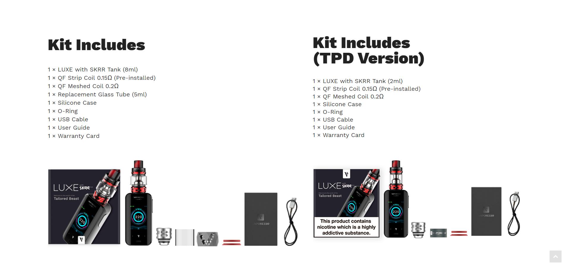 Vaporesso Luxe Kit kopen, Vaporesso Luxe Kit kopen Belgie, Vaporesso Luxe Kit kopen Nederland, Vaporesso Luxe Kit kopen online