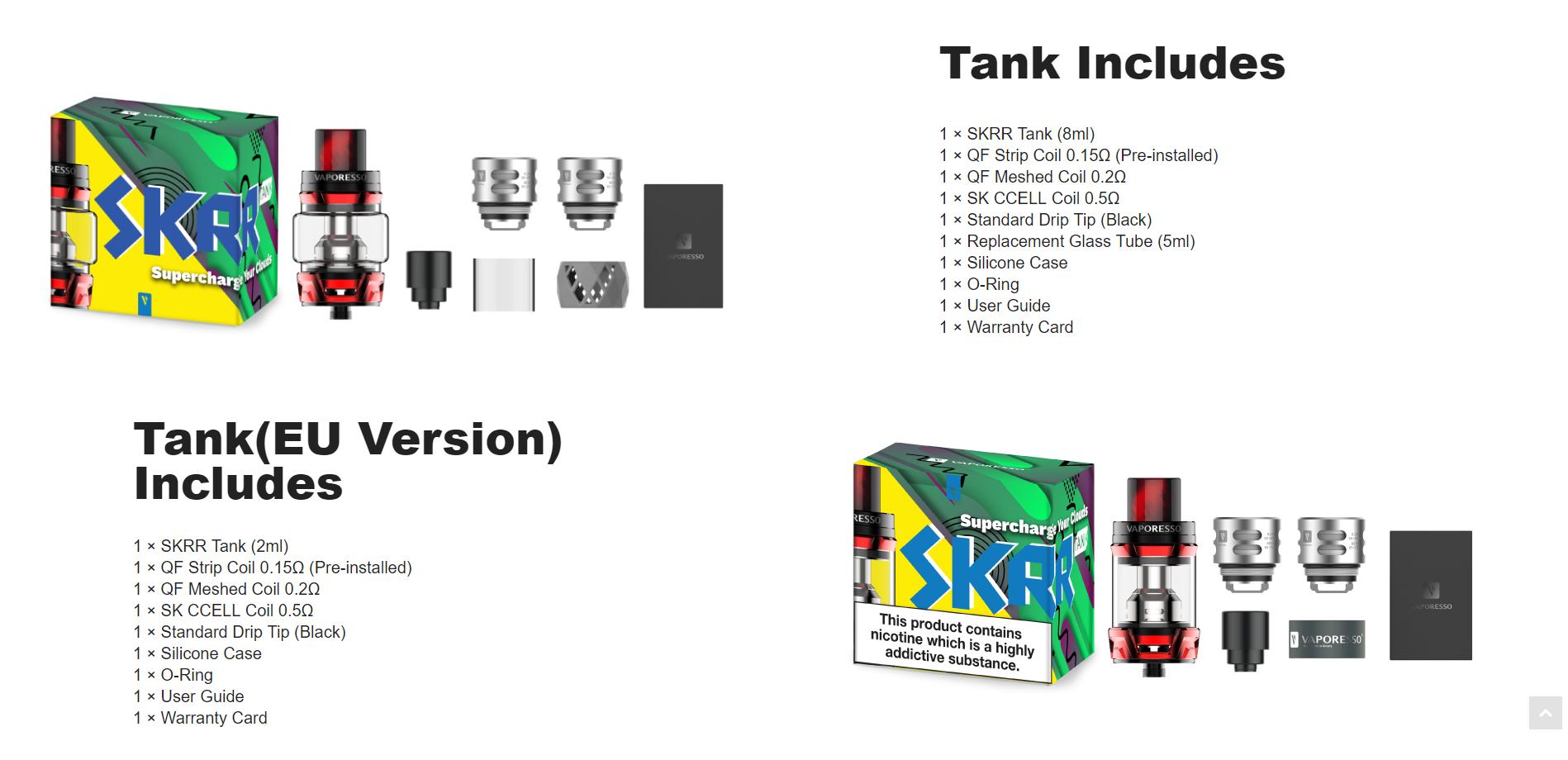 Vaporesso SKRR Tank kopen, Vaporesso SKRR Tank kopen Belgie, Vaporesso SKRR Tank kopen Nederland, Vaporesso SKRR Tank kopen online